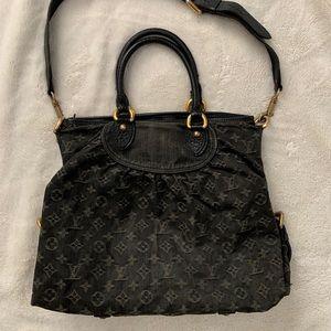Louis Vuitton Black Denim Neo Cabby GM Bag